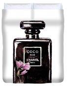 Chanel Noir Magnolia Pink Duvet Cover
