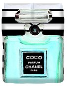 Chanel Perfume Turquoise Chanel Poster Chanel Print Duvet Cover