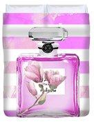 Chanel Pink Flower 5 Duvet Cover
