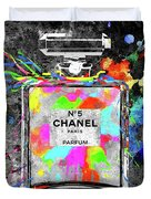 Chanel Rainbow Colors Duvet Cover