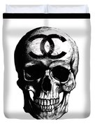 Chanel Skull Black Duvet Cover