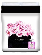 Chanel With Flowers Duvet Cover