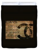Chanel Wood Panel Rustic Quote Duvet Cover