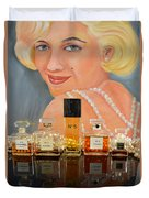 Chanels With Marilyn Monroe Duvet Cover