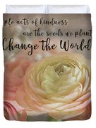 Change The World Duvet Cover