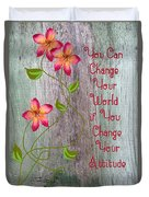 Change Your World Duvet Cover