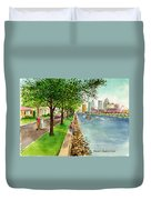Channel Drive Tampa Florida Duvet Cover