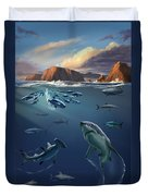 Channel Islands Sharks Duvet Cover