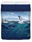 Channel Islands Whales Duvet Cover
