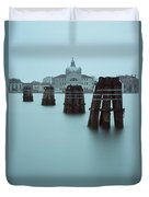 Channel Markers, Venice, Italy Duvet Cover