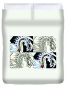 Chaos Dragon Fact W Fiction Duvet Cover