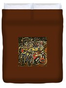 Chaos On The Track Duvet Cover