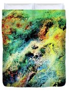 Chaotic Play Of Color Duvet Cover