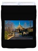 Chapel At Glassy Duvet Cover