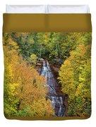 Chapel Falls Autumn Upper Peninsula Michigan Duvet Cover