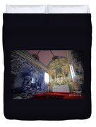Chapel In Azores Islands Duvet Cover