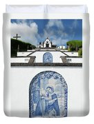 Chapel In The Azores Duvet Cover