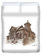 Chapel On The Rock Duvet Cover