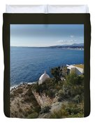 Chapel Over The Sea Duvet Cover