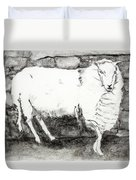 Charcoal Sheep Duvet Cover