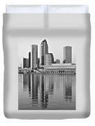 Charcoal Tampa Duvet Cover