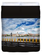 Charles Bridge And Penguines Duvet Cover