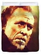 Charles Bukowski, Literary Legend Duvet Cover