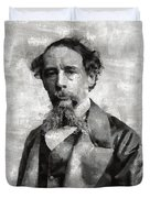 Charles Dickens Author Duvet Cover