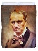 Charles Pierre Baudelaire, Literary Legend Duvet Cover
