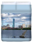 Charles River Boston Ma Crossing The Charles Duvet Cover