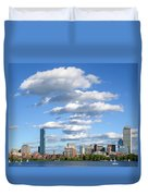 Charles River Cloud Stack Boston Ma Duvet Cover