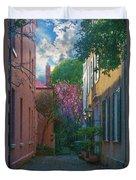 Charleston Alley In The Spring Duvet Cover