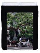 Charleston Buggy Ride Duvet Cover by Skip Willits