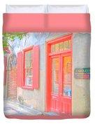 Charleston Sc Catfish Row Duvet Cover