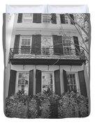 Charleston Style Home Black And White Duvet Cover