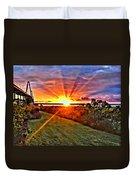 Charleston Sunset Duvet Cover