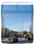 Charlestown Harbour Cornwall Duvet Cover
