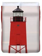Charlevoix South Pier Lighthouse Duvet Cover
