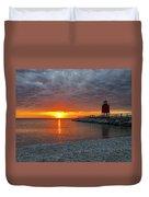 Charlevoix Sunset Duvet Cover