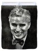 Charlie Chaplin Hollywood Legend Duvet Cover