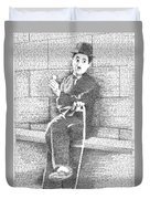 Charlie Chaplin In His Own Words Duvet Cover