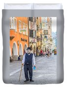 Charlie Chaplin In Innsbruck Duvet Cover