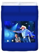 Charlie Daniels On Stage Duvet Cover