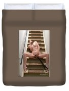 Charliegirl On The Stairs 7 Duvet Cover