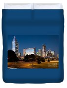 Charlotte North Carolina Skyline At Dusk Duvet Cover