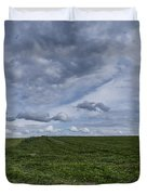 Charlotte Vermont Hay Field Farm Grass Duvet Cover