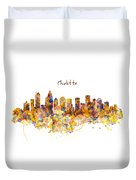 Charlotte Watercolor Skyline Duvet Cover