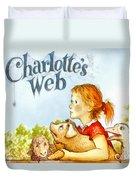 Charlottes Web Duvet Cover by Elizabeth Coats