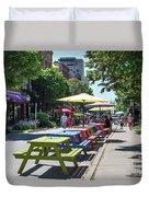 Charlottetown Street Scene Duvet Cover