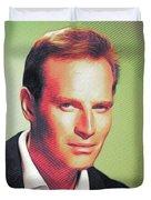 Charlton Heston, Hollywood Legends Duvet Cover